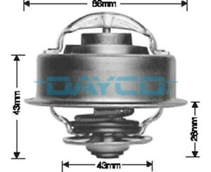 Thermostat for Mercedes Benz 450SE M117.982 Jul 1973 to 1980 DT32E