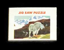 Cracker Jack paper prize Mountain Goat jigsaw puzzle vintage 1960s