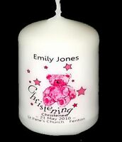 A PERSONALISED GODDAUGHTER CANDLE CARD BABY CHRISTENING Unique CS1