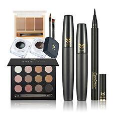 Huamianli Makeup Eye Shadow + Eyebrow Powder + Eyeliner + Mascaras Kit Set