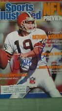 BERNIE KOSAR signed Sports Illustrated NFL preview issue, Cleveland Browns, COA