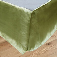 Easycare Bouquet Green Jacquard Bed Bedskirt Valance - KING