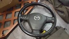 #M5248 MAZDA RX8 231PS 2004 leather steering wheel