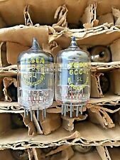 TESLA 6CC42 (396A 5670 2C51 6385) Closely Matched Pair O-Getter NEW NOS Strong
