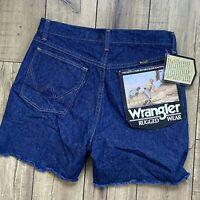 Wrangler Vintage CUTOFF JEAN SHORTS Cut Off High Waist Size 29