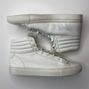 COMMON PROJECTS Men's High Hi Top Shoes Sneakers Casual Off White Size 44 US 11