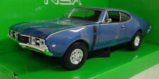 Nex models 1/24 Scale 24024W 1968 Oldsmobile 442 Metallic Blue Diecast model car