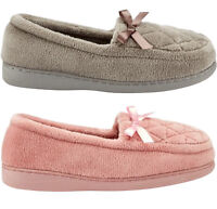 LADIES WOMENS SOFT WARM WINTER MOCCASINS BOW SLIP ON SHOES SLIPPERS SHOES SIZE