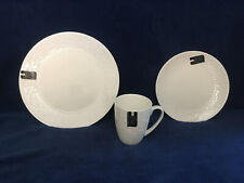 La Rochelle L2R7 White Bone China Salad or DInner Plate or Mug Swirl Dots - New