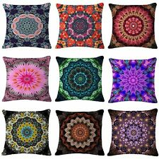 17''Linen/Cotton Mandala Style Cushion Cover Throw PillowCase Sofa Bed Decor