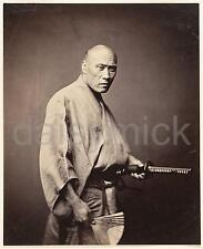 Samurai Warrior Yokohama 1865 by Felice Beato Reprint Photo 6x5 Inch Japan