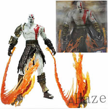 "7"" NECA God of War 2 Kratos flame Action Figure movable joints in box"