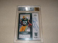 EDDIE LACY AUTO, SIGNED 2013 CONTENDERS ROOKIE TICKET CARD BGS MINT 9 PACKERS