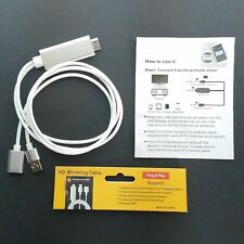3 in1 USB To HDMI HD Screen Mirroring Adapter Cable   iPhone Samsung with Manual