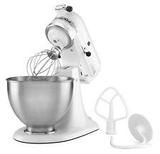 KitchenAid Stand Mixer 4.5 Quart Tilt-Head White Countertop Kitchen Hand Beater