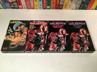 Battlestar Galactica Family Sci Fi VHS Lot of 4 Movie & TV Series Episodes 70's