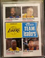 2001 - 02 Topps Heritage 93 Shaquille O'Neal Mike Penberthy  And Kobe Bryant