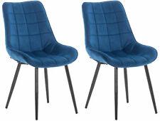 #LA97776/3009 2x Esszimmerstuhl Gigi Samt blau Küchenstuhl Besucherstuhl Stuhl