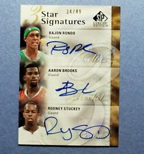 2009 SP, Rajon Rondo, Aaron Brooks, Rodney Stuckey, Auto Autograph, #d 34/49