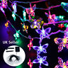 20 30 50 LED Solar Powered Fairy String Butterfly Lights Outdoor Garden Party UK