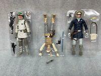 STAR WARS BLACK SERIES lot hoth luke han solo rebel trooper  in trimmed trays