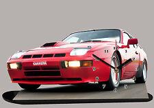 MODEL CARS, PORSCHE 924-01, car passenger,11,8x 7,8 inches  with Clock