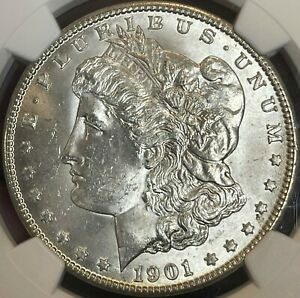 1901-O Morgan Dollar NGC MS66.  Clean Surfaces.  Blast White and Lustrous.