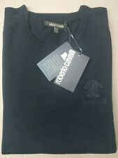 Roberto Cavalli XL Bnwt Men's Jumper Black Embroidery Authentic 100% Wool Crew