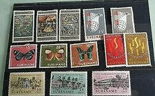 SURINAME  STAMPS- 13 MISC SELECTION -10 MINT /USED/HINGED-COLLECTION BREAK-UP.