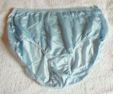 Light Blue Vintage Style Nylon Full Panties Brief Knickers S UK10 - US 6