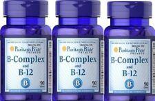 3 VITAMIN B-COMPLEX AND B-12 90 TABLETS, VITAMIN B-KOMPLEX-und B-12 USA