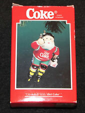 On A Roll With Diet Coke Santa Clause Roller Blades Christmas Ornament In Box