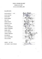 SRI LANKA CRICKET TOUR OF ENGLAND 1988 TEST MATCH RARE SIGNED TEAM SHEET COA