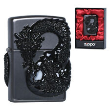 Zippo Black Dragon Lighters Made in USA South Korea Version