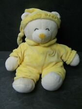 peluche doudou ours beige jaune baby bear 27 cm gipsy comme neuf