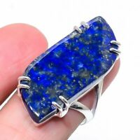 Lapis Lazuli Gemstone Handmade Ethnic Jewelry Ring Size 8 VS-512