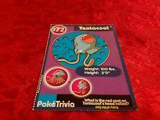 Burger King Pokemon Promo Card Tentacool #72