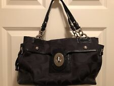 Authentic Black Coach Purse Handbag J0969-14507