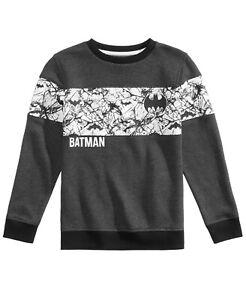 DC Comics Batman Boys Size Large Charcoal Gray Graphic Sweatshirt