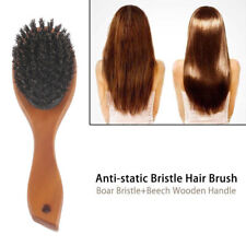 Natural Boar Bristle Massage Hairbrush Oval Anti-static Comb Hair Styling Tool