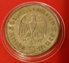 Germany Nazi 5 Reichsmark 1936 A .900 Silver Coin Prot Caps 462