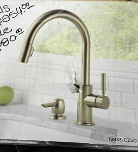 Delta Trask Champagne Bronze One Handle Pull Down Kitchen Faucet 19933-CZSD-DST