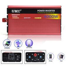 4000W DC 12V to AC 220V Modified Sine Wave Power Inverter Caravan LED USB Safe