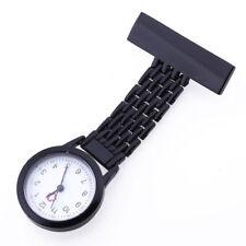 Reloj con broche de enfermera, negro V7R6