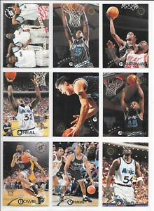 1994-95 Stadium Club Super Team Orlando Magic Basketball 11 Card Lot