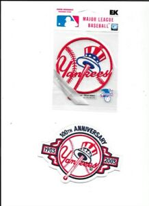 2 NY YANKEES PATCHES 3.25 AND 4.75 INCHES NEW UNUSED