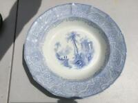 Antique Staffordshire Transferware  Rimmed Soup TEMPLE THOMAS EDWARDS c. 1846