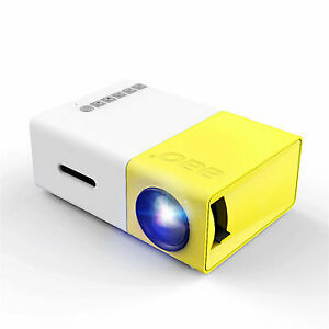 YG-300 LCD LED Projector 400-600 Lumens 320x240 800:1 Support 1080P Portable Off