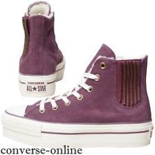 Women CONVERSE All Star PLATFORM PURPLE SUEDE CHELSEE HI Trainers Boot SIZE UK 6