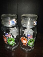 2 Collectible m&m's Glass Candy Cookie Jar 84' Olympics